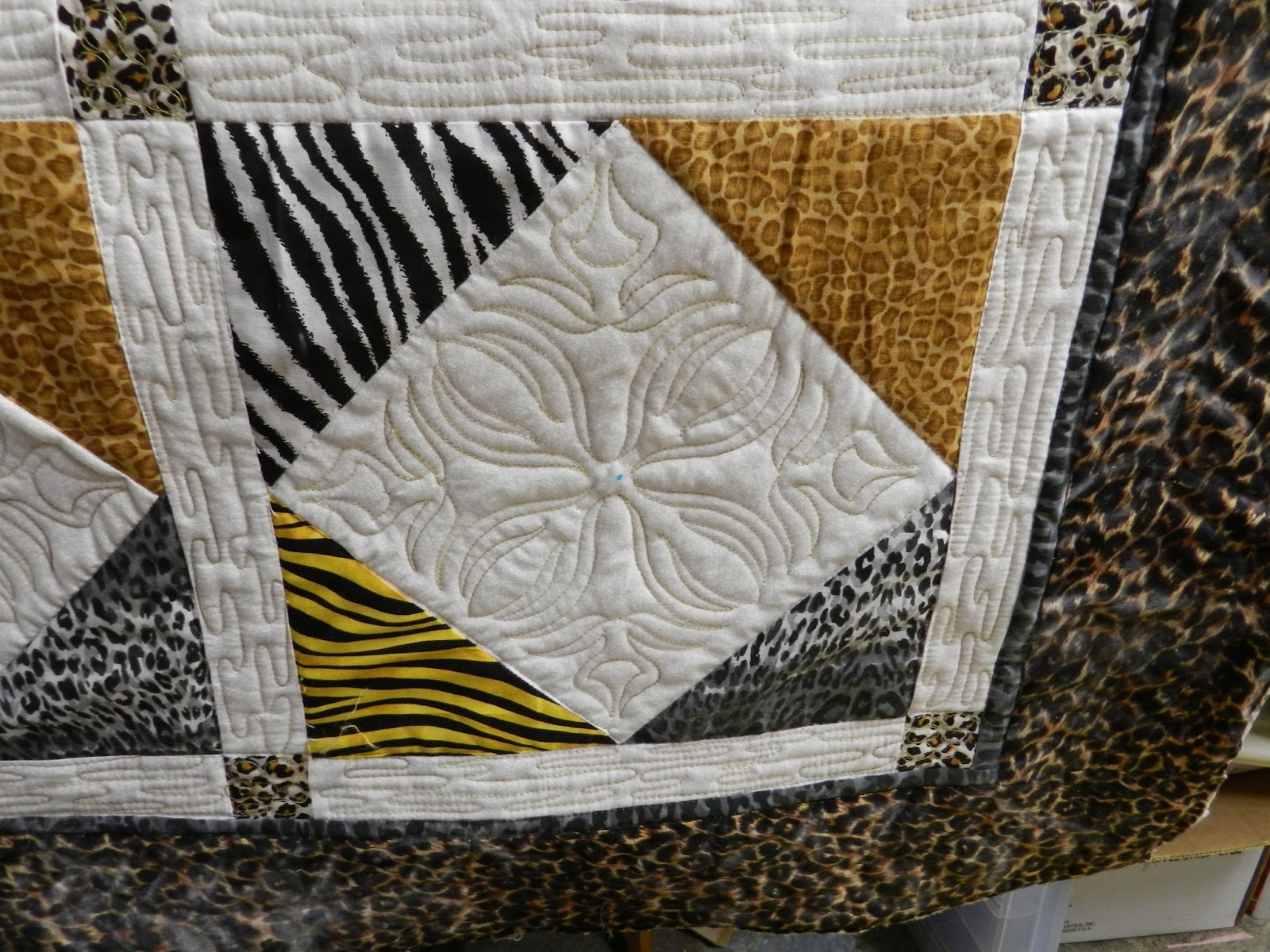 Dinah S Quilts And Embroidery Wild Animal Print Quilt