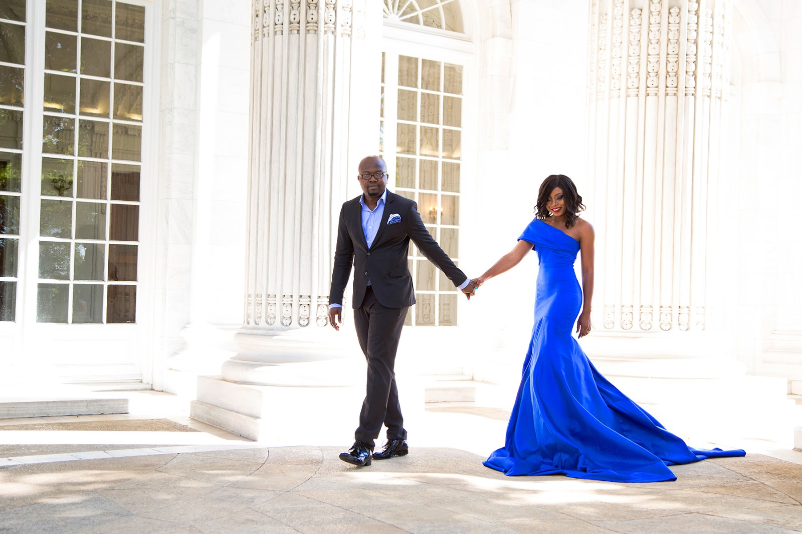 blue evening gown for wedding
