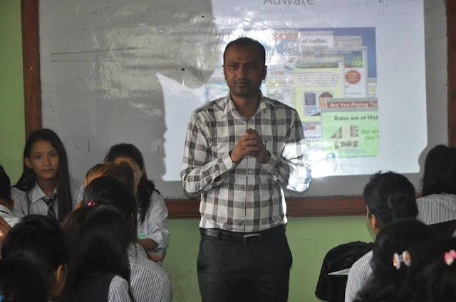 Mr. Chiranjibi Adhikari Giving Speech about Cyber Security