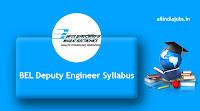 BEL Deputy Engineer Syllabus