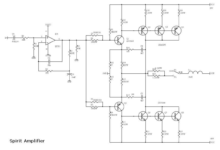 rangkaian power rangkaian amplifier spirit. Black Bedroom Furniture Sets. Home Design Ideas