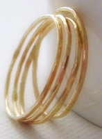 14K Gold Fill Stacking Rings - Skinny Minnies (Set of 4): $24