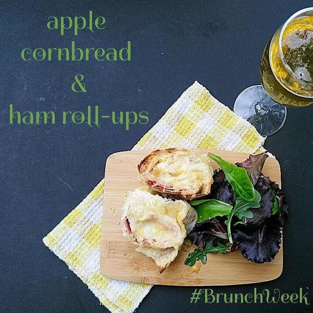 Apple Cornbread And Ham Roll-Ups