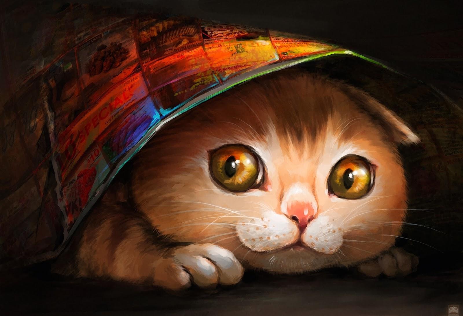 wallpaper free: wallpaper cat art