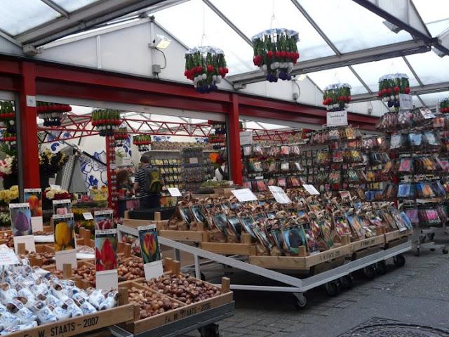 visite du marché aux fleurs d'Amsterdam