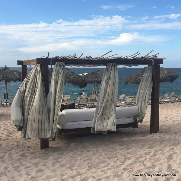 beach lounge at Four Seasons Resort Punta Mita in Mexico