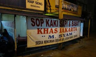 Sop Kaki M. Syam, Banceuy