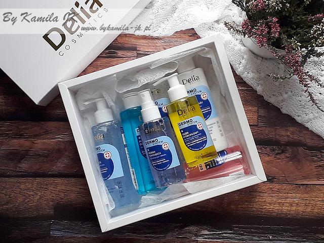 Delia Dermo System seria do oczyszczania twarzy żel olejek płyn micelarny dwufazowy mleczko mgiełka tonizująca
