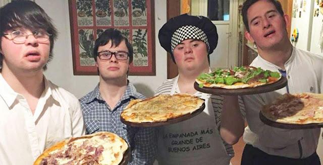 Amici con la sindrome di Down aprono una pizzeria dopo che non riescono a trovare un lavoro