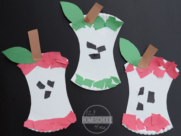 apple paper plate crafts