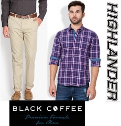 Men's Clothing (Highlander, Locomotive, Black Coffee) – Min 50% Off @ Flipkart