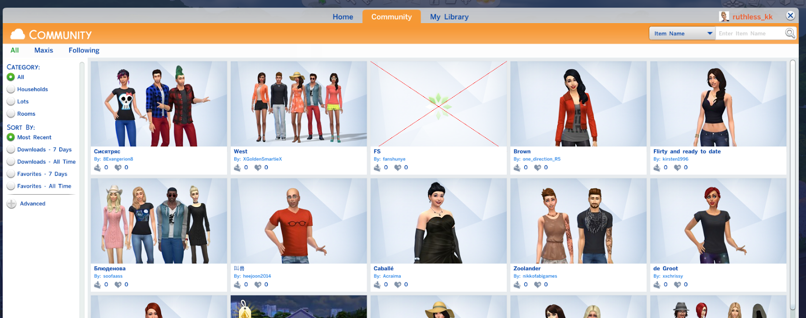 Simply Ruthless: Tutorial: Using the Sims 4 Gallery