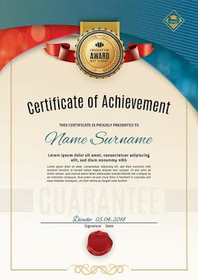 Plantilla para certificados en sentido vertical