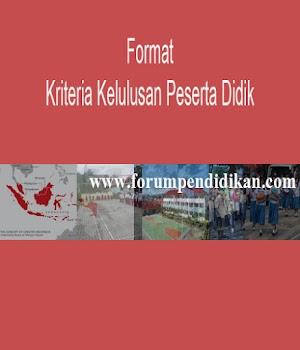 Format Kriteria Kelulusan SMA | Administrasi Ujian Nasional