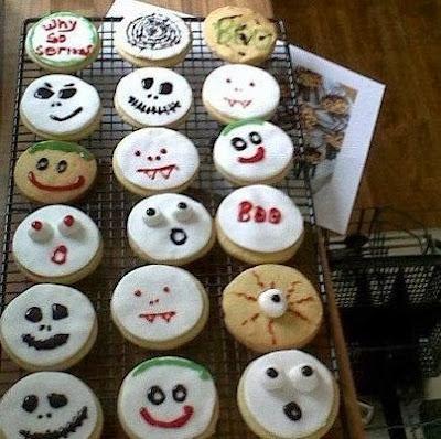 Halloween themed cookies!