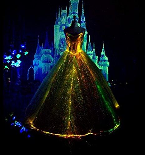 Met Gala Led Wedding Dress Light Up Bridal Gown Fiber Optic Formal Dresses Luminous Banquet