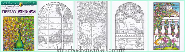 CH 185 kleurboek tiffany windows