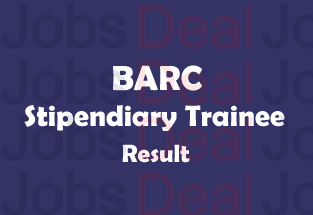 BARC Stipendiary Trainee Result 2017