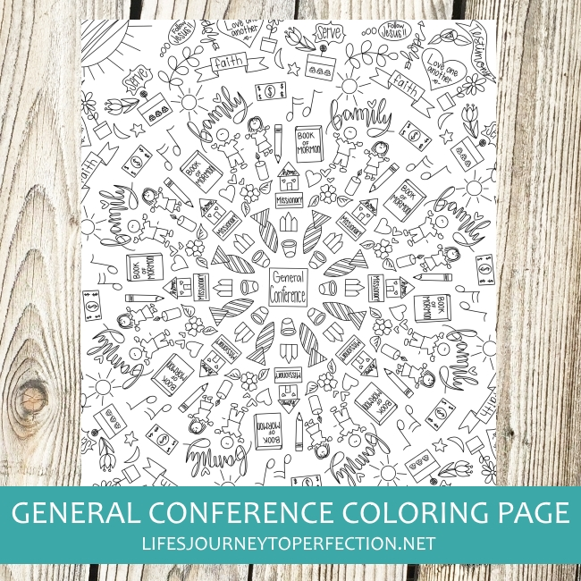 Life S Journey To Perfection General Conference Coloring Page