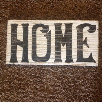 'HOME' Sign home  Dejavu*Crafts: DIY rustic sign Rustic