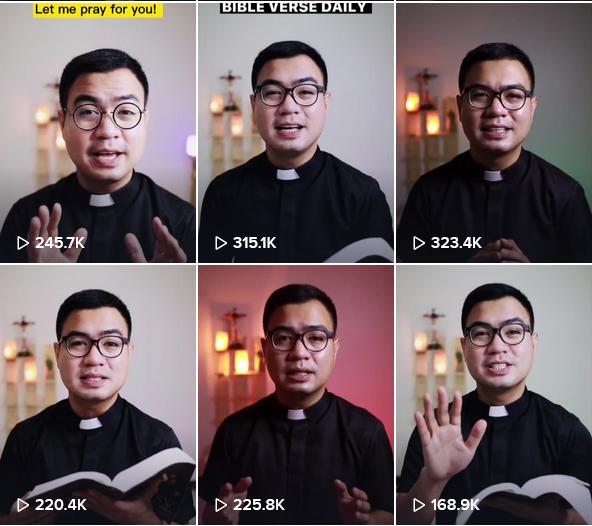 Fiel Pareja, Seorang Imam Katolik Filipina menjadi pemenang penghargaan TikTok