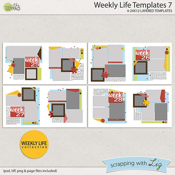 http://the-lilypad.com/store/Weekly-Life-7-Digital-Scrapbook-Templates.html