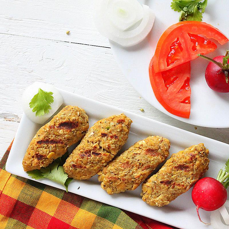 Tempeh Seekh Kebabs