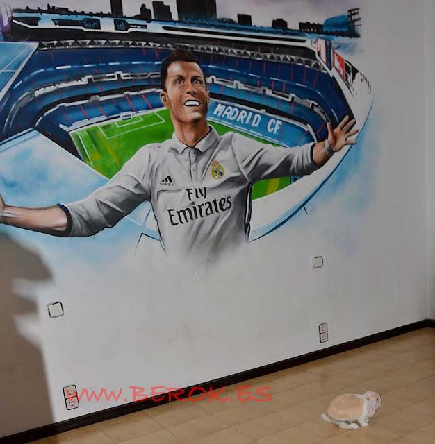 Graffiti habitación Real Madrid