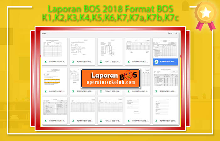 Laporan BOS 2018 Format BOS K1,K2,K3,K4,K5,K6,K7,K7a,K7b,K7c