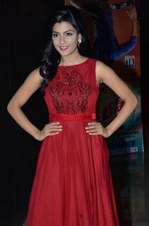 Actress Anisha Ambrose Latest Stills in Red Long Dress at Run Movie Audio Launch  0014.jpg