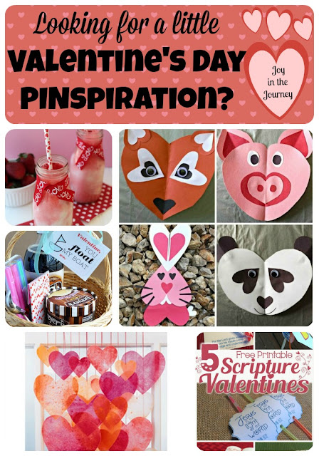 Looking for some ideas for Valentine's Day? This blog post is chocked full of ideas: crafts, recipes, decor, gift ideas, and more! Get inspired to have a fun and festive Valentine's Day. Blog post by Jessica Lawler @ Joy in the Journey