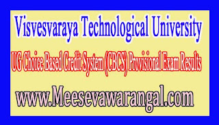 Visvesvaraya Technological University UG Choice Based Credit System (CBCS) Provisional Exam Results