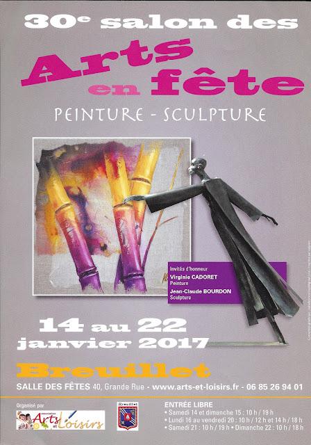 30 e SALON D'ART à BREUILLET DU 14 au 22 JANVIER