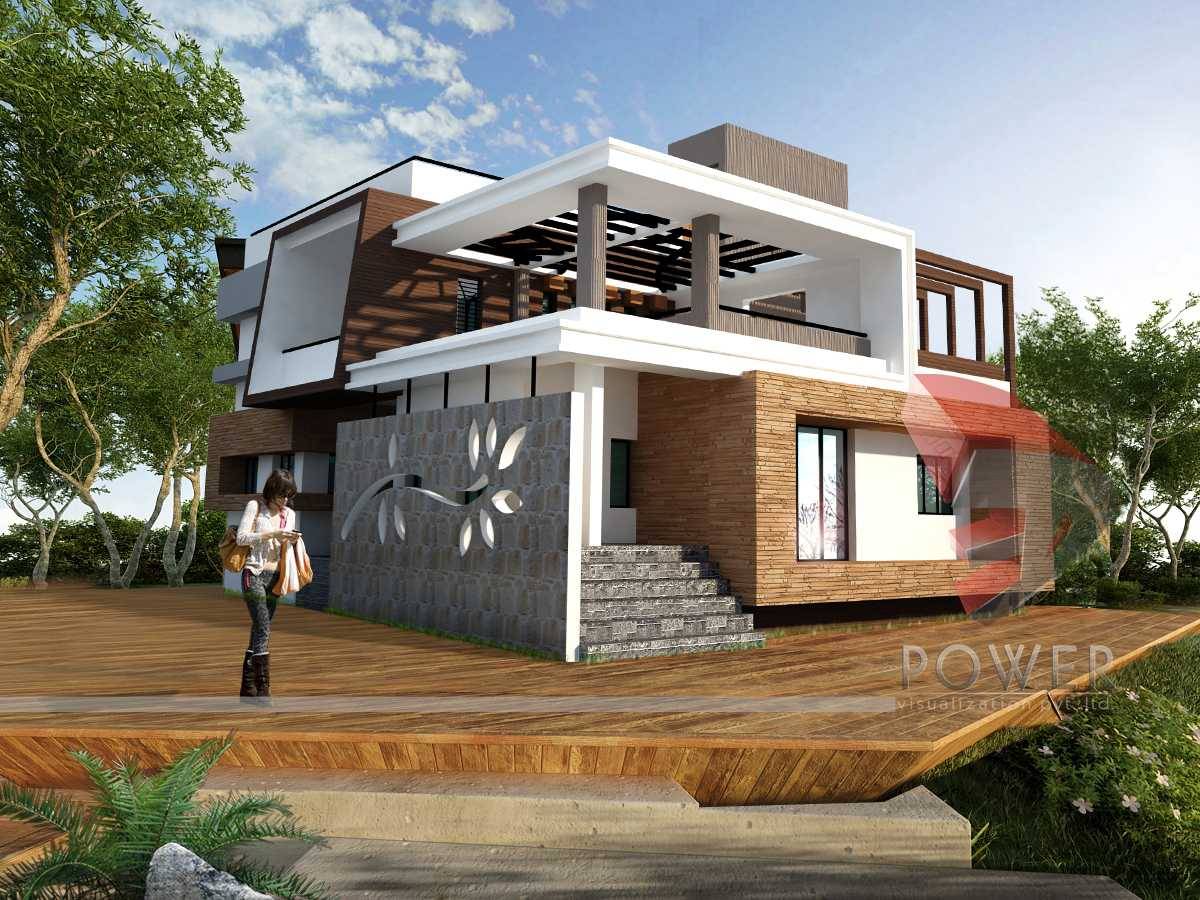 Ultra modern home architecture for Modern triplex house designs