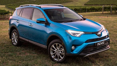 2017 Toyota RAV4 Hybrid Blue color HD Photos