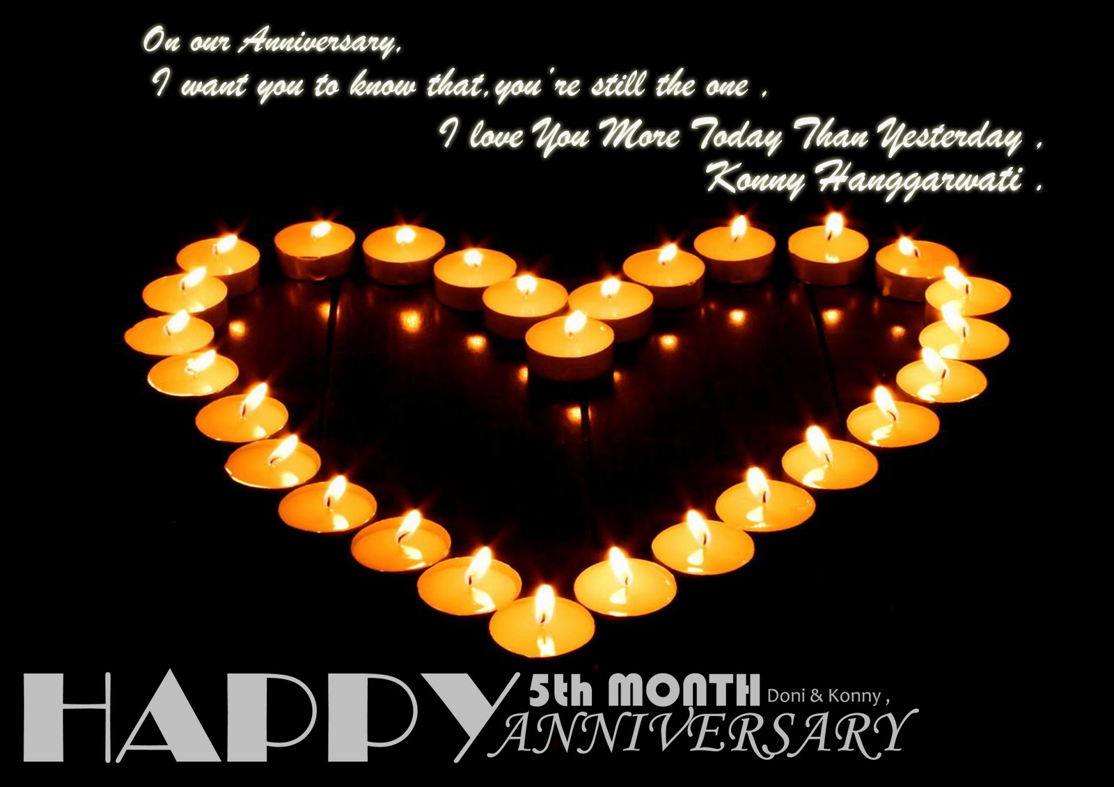 My Sweetest One: Happy 5th Month Anniversary