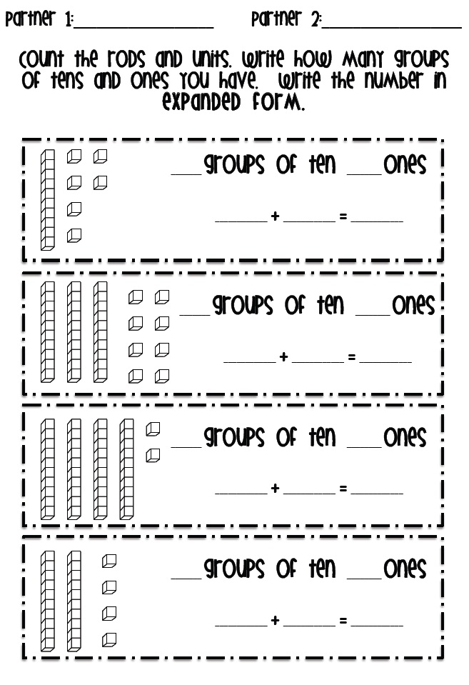 Place Value Worksheet 1st Grade | Search Results ...