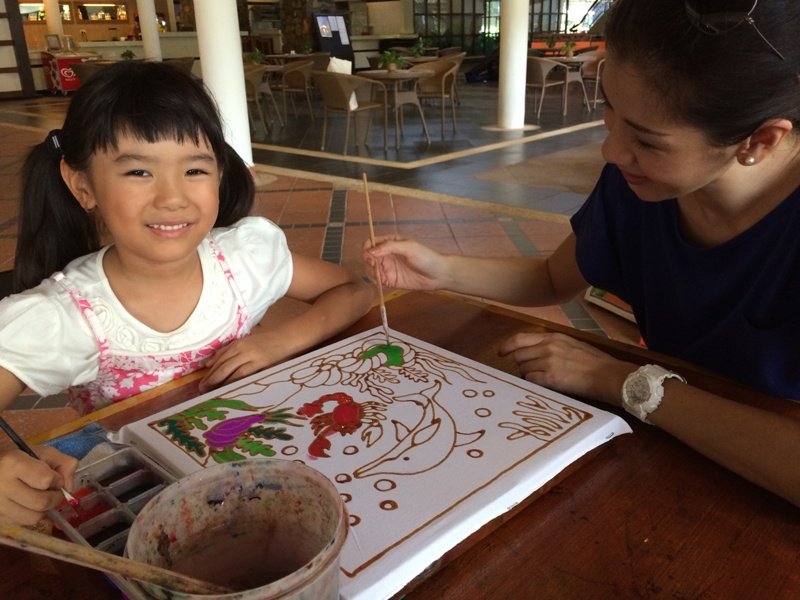bintan lagoon resort mothers day package batik painting