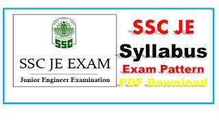 SSC JE Syllabus PDF 2017