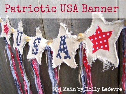 celebrate the USA with this no-sew banner
