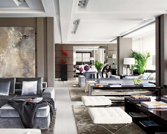 Madrid Taupe Beige Ultra Modern Living Room Furniture 3: NOIR BLANC Un Style