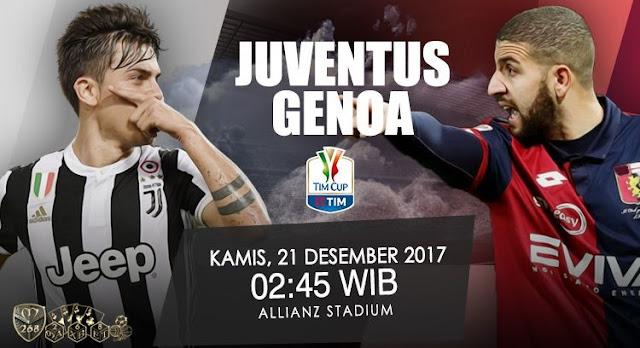 Prediksi Bola : Juventus Vs Genoa , Kamis 21 Desember 2017 Pukul 02.45 WIB