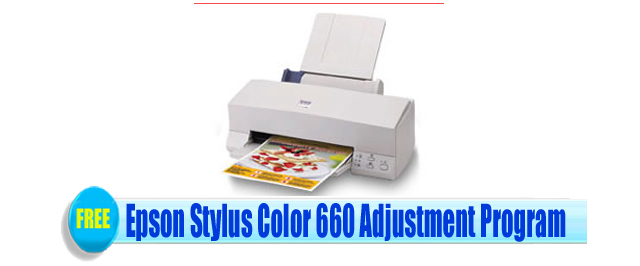 Epson Stylus Color 660 Adjustment Program