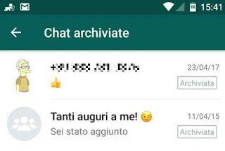 Archiviare chat in Whatsapp: cosa significa e come farlo su Android e iPhone