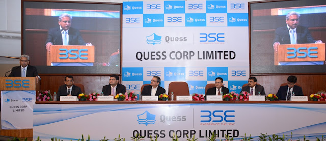 Quess Corp Limited : IPO Listing  on BSE & NSE. The IPO issue price was Rs. 317