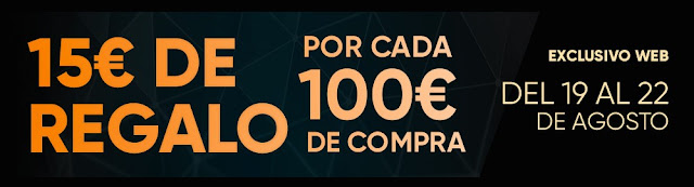 Top 10 ofertas 15 euros de regalo por cada 100 euros de compra de Fnac.es