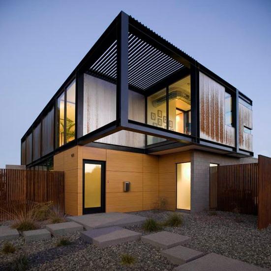 rumah minimalis industrial mewah modern