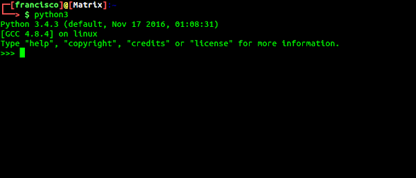 Terminal Python3