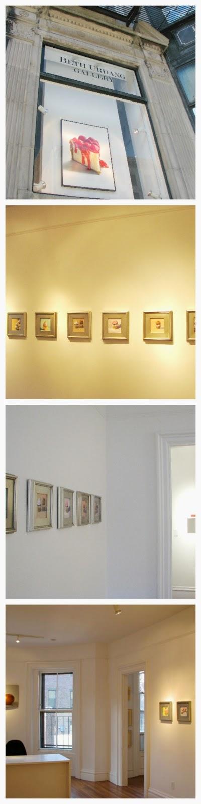 cupcake paintings at Beth Urdang Gallery