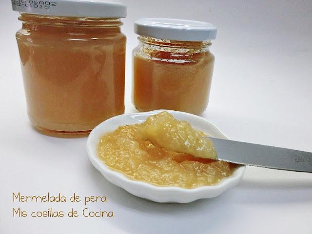 receta mermelada de pera